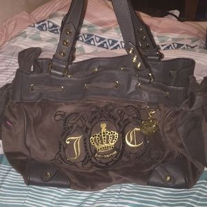 Suede juicy couture purse